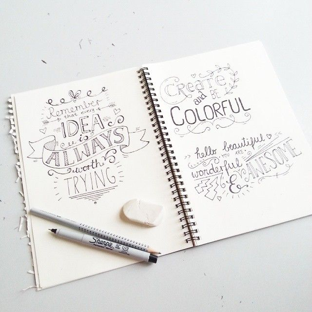 Become good at handlettering! ♥