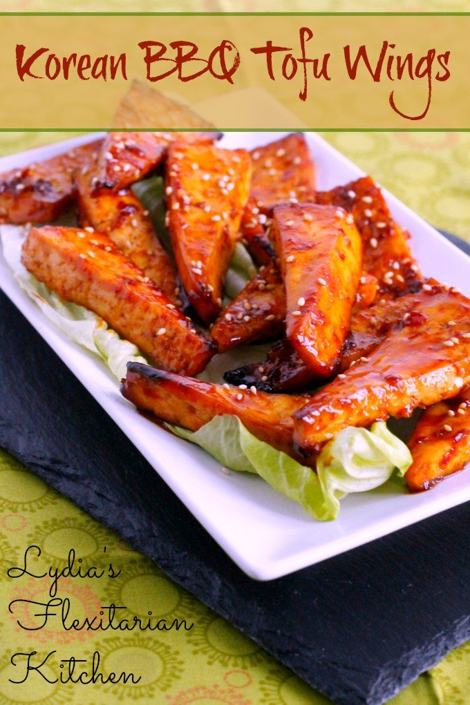 "Korean BBQ Tofu ""Wings"" ~ Lydia's Flexitarian Kitchen"