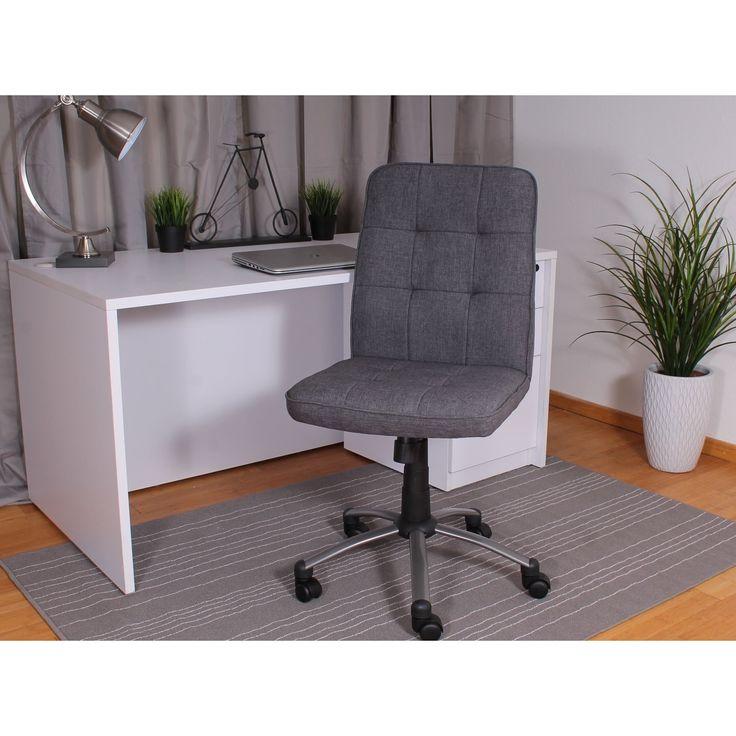 Boss Fabric Modern Ergonomic Office Chair in Grey