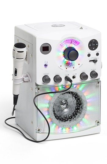 Singing Machine Karaoke System with Disco Lights available at #Nordstrom- Elizabeth/ Talan ?, we used to have one-they are fun