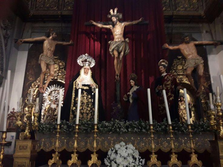 Cristo del buen ladrón y  virgen de Montserrat