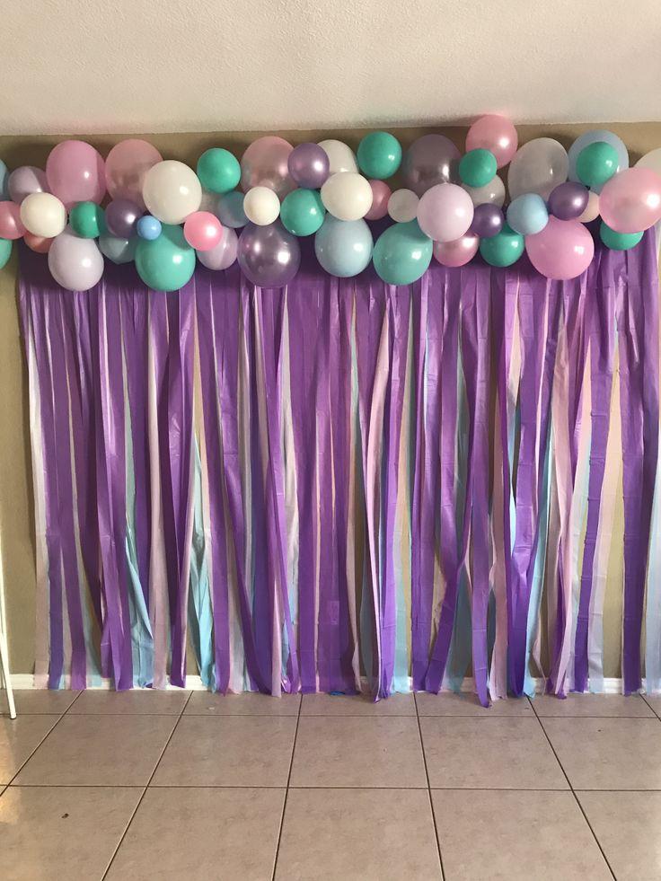 Unicorn back drop, Birthday backdrop, pastel colors