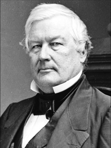 13th President - Millard Fillmore  He established White House Library . Millard Fillmore was of French Huguenot descent