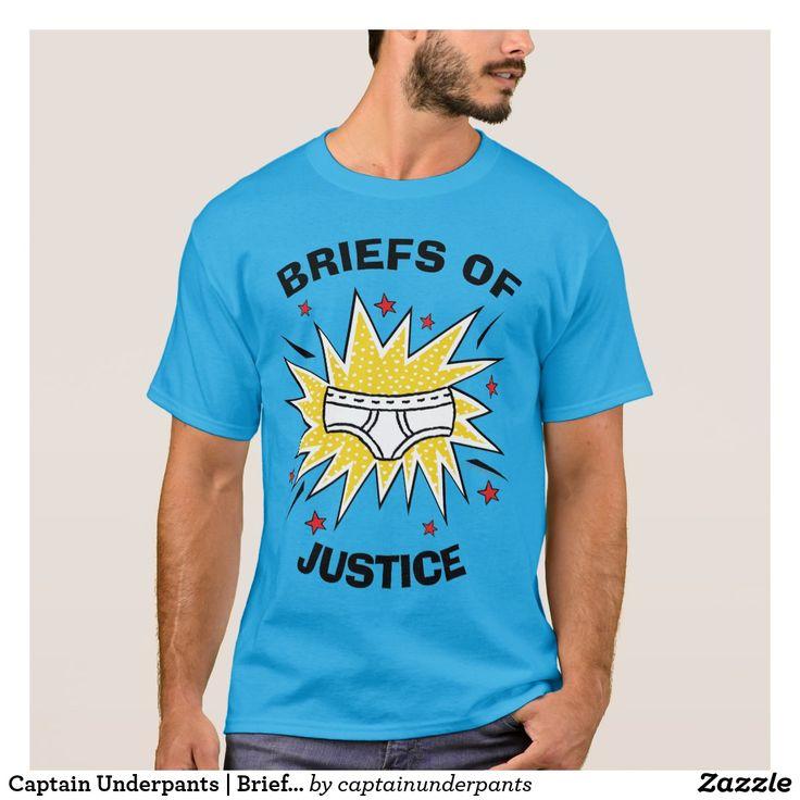 Captain Underpants | Briefs of Justice. Producto disponible en tienda Zazzle. Vestuario, moda. Product available in Zazzle store. Fashion wardrobe. Regalos, Gifts. Trendy tshirt. #camiseta #tshirt