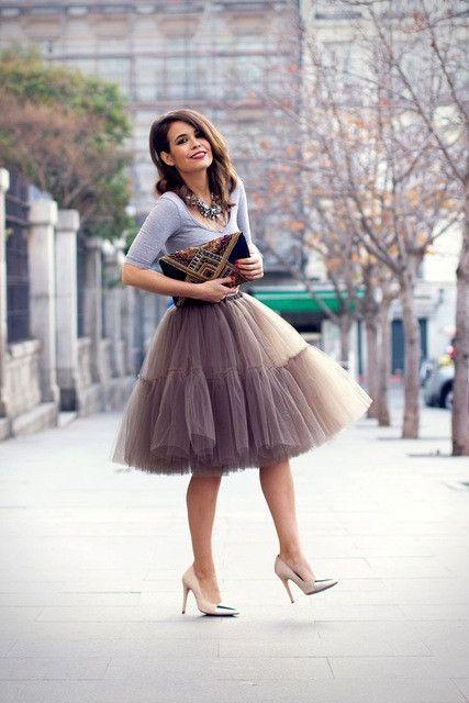 Free Shipping 6 Layer 2016 Tutu Tulle Skirts Midi skirt Women Fashion Party Design saias femininas formal faldas cortas