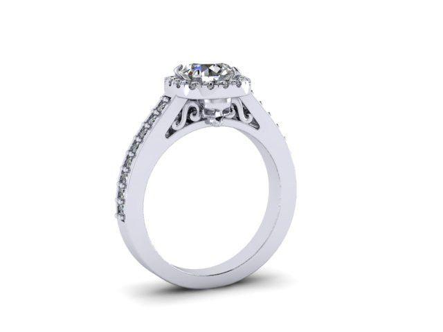 Secret Skull Engagement Ring-UDINC0536