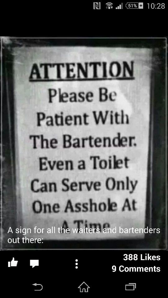 Bartender. | Funny quotes, Funny signs, Signs