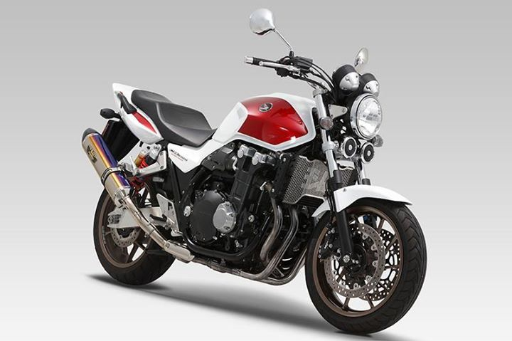 Another images of the new Radiator Core Protector, and it is on Honda CB1300SF. http://shop.yoshimura-jp.com/en/product/syousai.php?id=17067  #HONDA