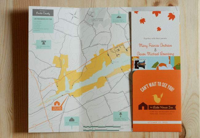 Pennsylvania Map for Wedding (graphic design by Lydia Nichols)