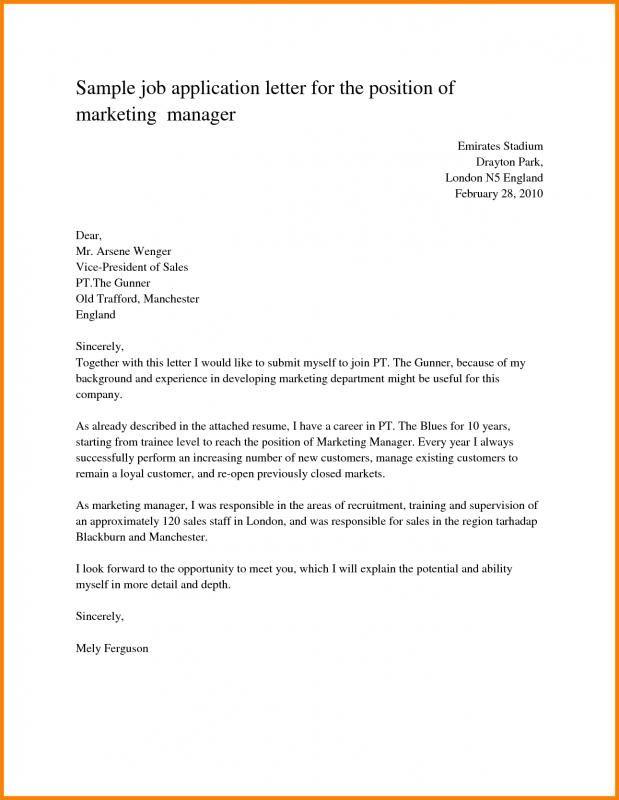 Job Application Sample Surat Tulisan Proposal