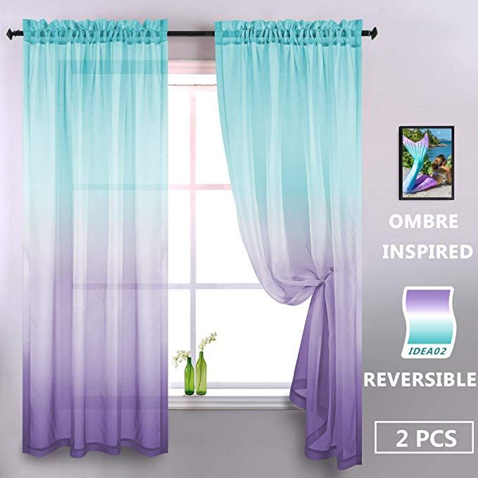 Amazon Com Lilac And Turquoise Curtains For Bedroom Girls Room