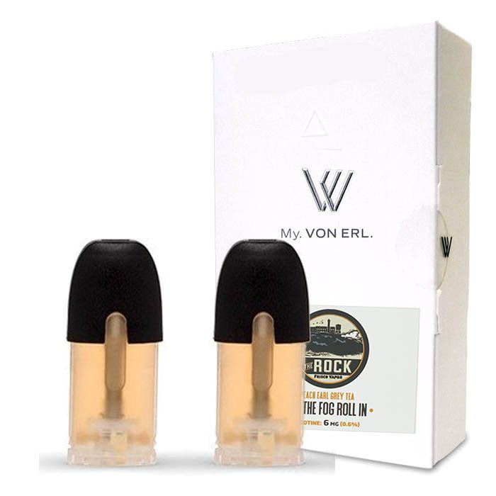 Frisco Vapor My. Von Erl LiquidPods The Rock (2 Pack) - Sweet Peach Earl Grey Tea.2 pack of ePods for use with the My. Von Erl VaporizerVon Erl creates a new category in the vaping market with its new My. Von Erl. The great vaping performance of an e-cigarette combined with the modern design of a cigalike. The 350 mAh battery guarantees a great vaping performance. The My. Von Erl Liquidpods (eJuice) for this e-cigarette give you an intense vaping pleasure with a great taste. The Liquidpods…