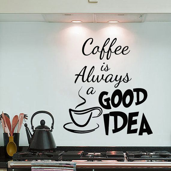 Best Wall Decals Kitchen Images On Pinterest Wall Decal - Custom vinyl wall decals coffee