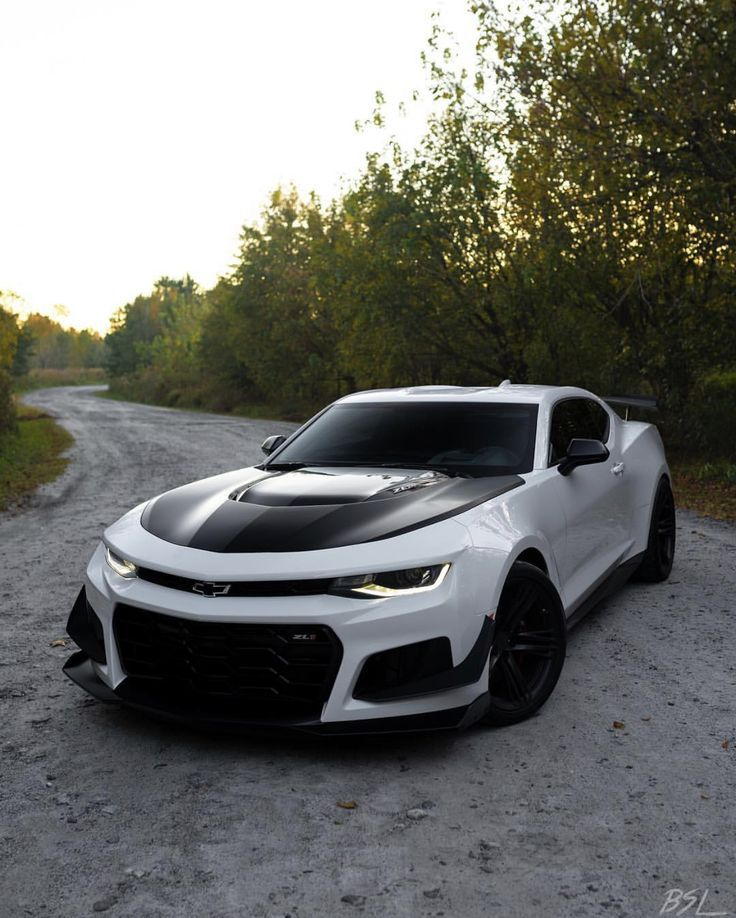 Chevrolet Camaro Zl1 1le Painted In Summit White Photo Taken By