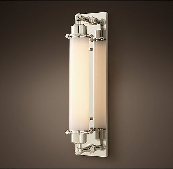 RH s Grand Edison Milk Glass Sconce :Inspired by industrial lamps from a bygone era, our sconce ...