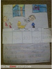 For the Love of First Grade: Writing SUPER Sized Sentences