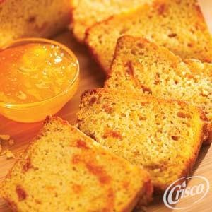 Peach Cinnamon Quick Bread from Crisco®