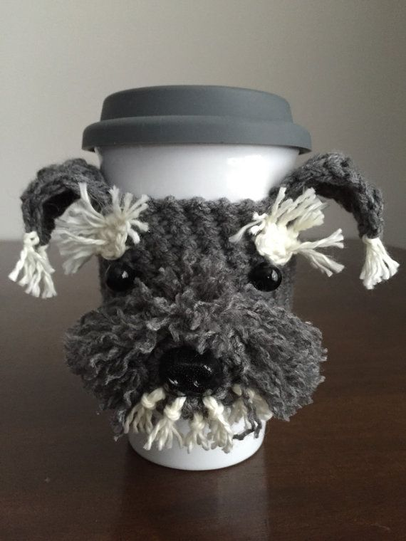 ****This is a crochet pattern and not the finished item****  This adorable Schnauzer cozy is unique and loaded with personality! It looks so real