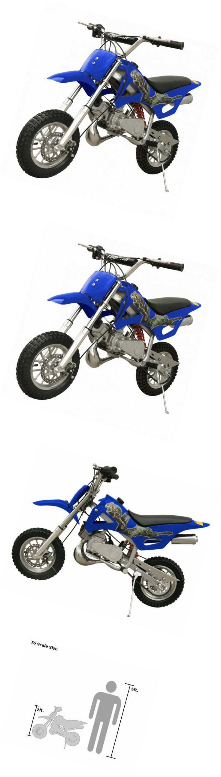 Gas Scooters 75211: 49Cc 50Cc 2-Stroke Gas Motorized Mini Dirt Pit Bike (Blue) -> BUY IT NOW ONLY: $358.88 on eBay!