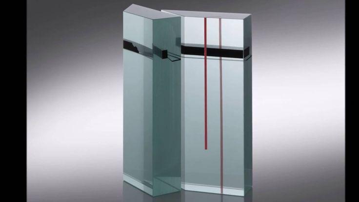 Glass Sculpture HORIZONTALS AND VERTICALS Jiri Karel
