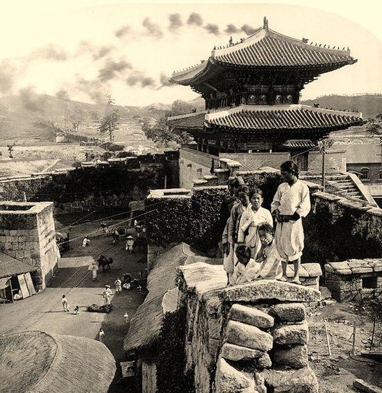 100여년전의 숭례문 전경 : 네이버 블로그