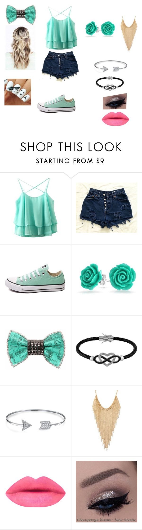 """Outfit #13"" by maddiebvb24 ❤ liked on Polyvore featuring Converse, Bling Jewelry, Bijoux de Famille, Jewel Exclusive and Forever 21"