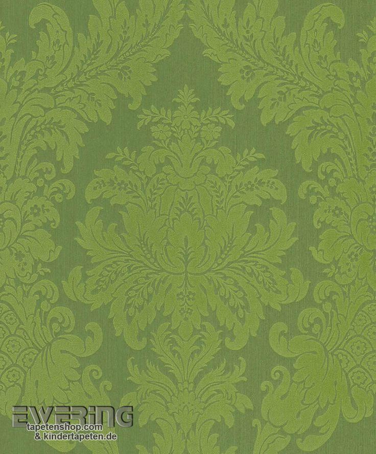 23 077215 Cassata Rasch Textil Textiltapete Gras Grün Ornament