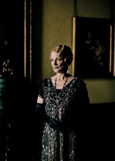 Samantha Bond plays Lady Rosamund Painswick, sister to Lord Robert — and meddling aunt to Mary and Edith..