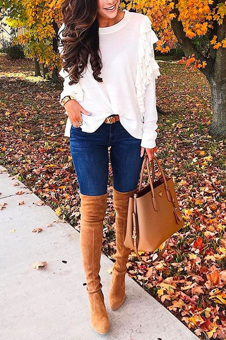SWEATER:BP(Size small, comes in black & red also – red would be perfect for holidays!) | DENIM:DL1961| BOOTS:Stuart Weitzman(similar HERE)| HANDBAG: Prada (similar style from Tory Burch HERE) | WATCH:Michele| RING:David Yurman(gold w/Morganite stone) (dupe here) |LIPS: 'Mauve' + 'Blankety' | BELT: Louis Vuitton (reversible!) (the Tory Burch version is just like it HERE.) | BRACELET:The Styled Collection,David Yurman| EARRINGS:BP(similar here) | SUNGLASSES:Gucci