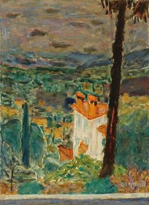 Paysage du Midi ( Le Cannet), vers 1942, Pierre Bonnard, musée Bonnard, Le Cannet.