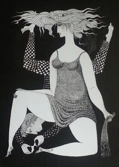 """Stig Lindberg, """"Askungen"""" litografi"""