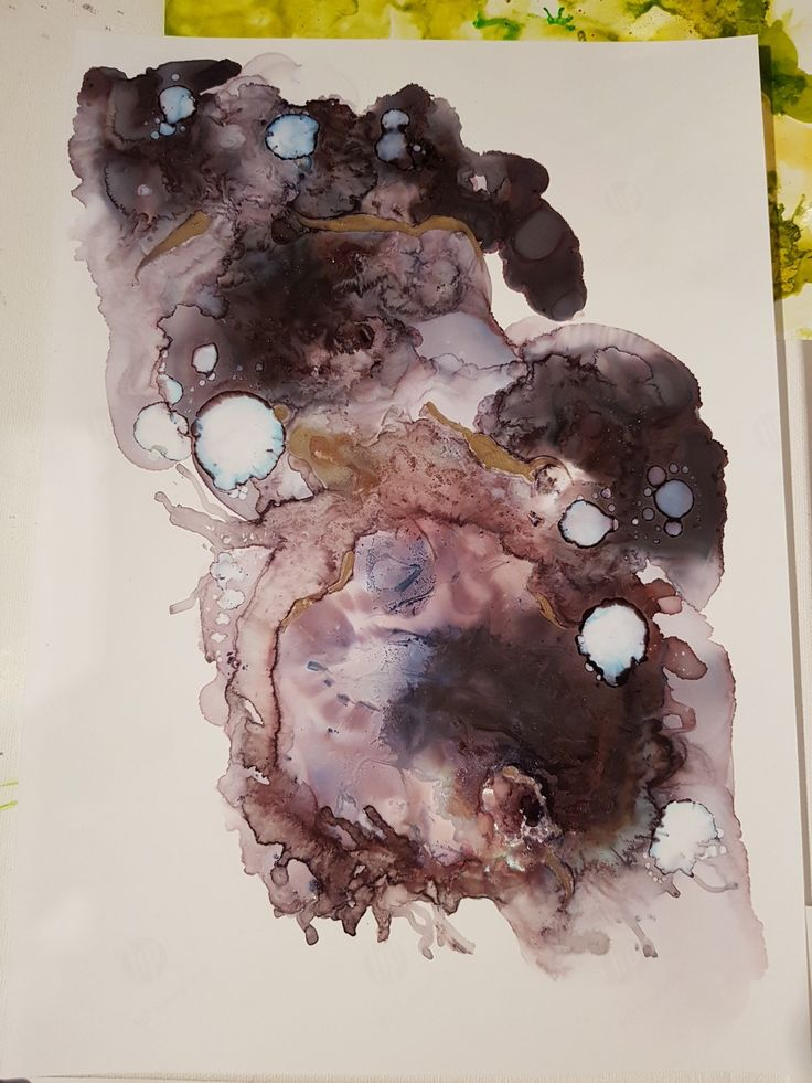 #Alcohol ink art #abstractpainting