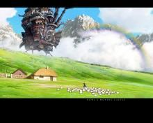 PRESENT http://www.wallpapervortex.com/ Anon, 2015  More Ghibli landscape art really attractive to the eye