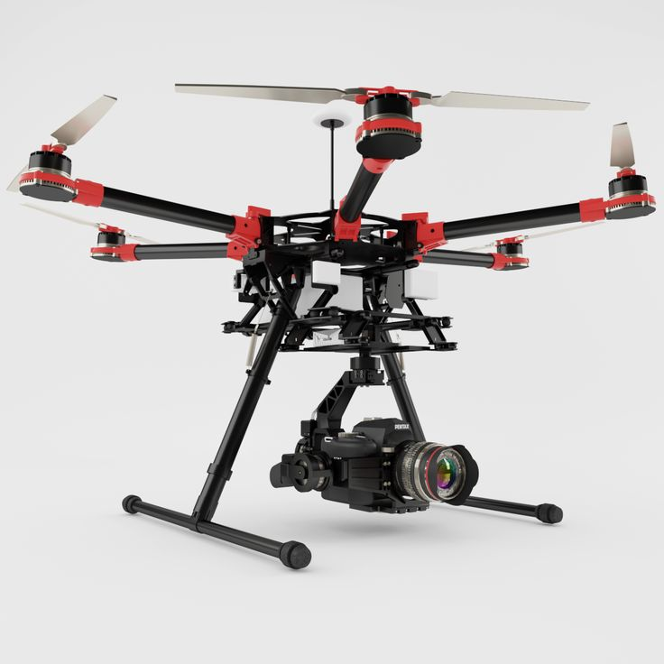 High Detailed and realistic 3d model of DJI Spreading Wings S900 Hexacopter Drone.