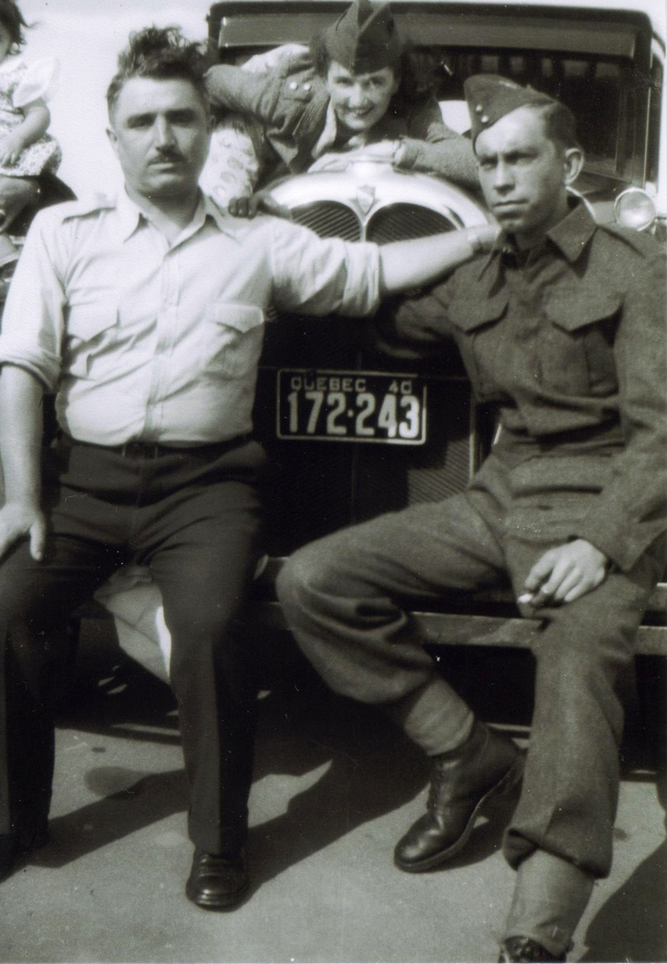 my dad with army buddy joe,from Ville Emard