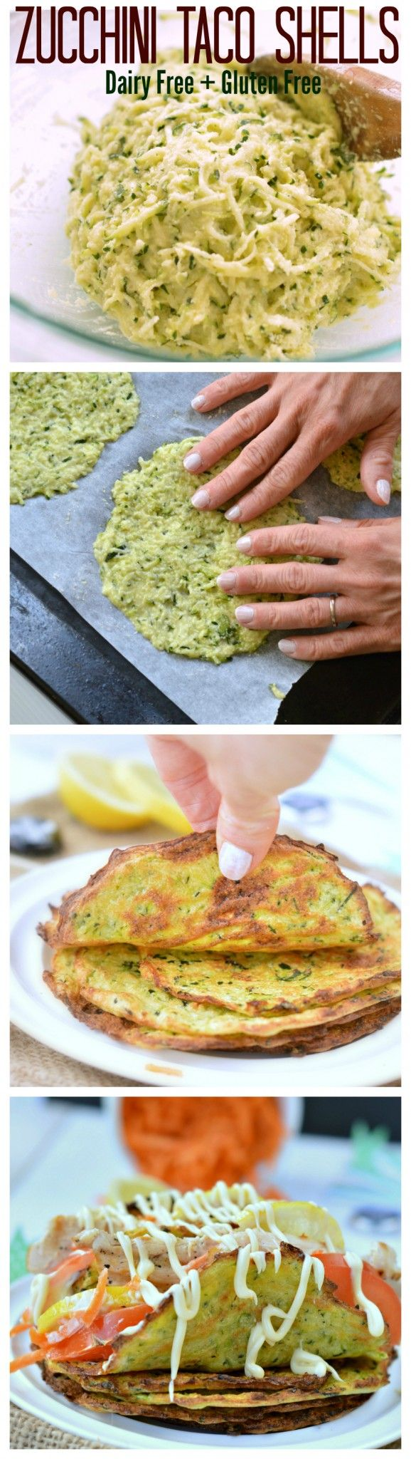 1 cup grated zucchini, packed, dried - about 4 medium size zucchini 1 egg 6 tablespoons arrowroot flour, packed - tapioca flour is very fine and volatile and to exactly measure the quantity I recommend to use this measuring spoon. 2 tablespoon Coconut flour. 1 teaspoon oregano Salt, Pepper