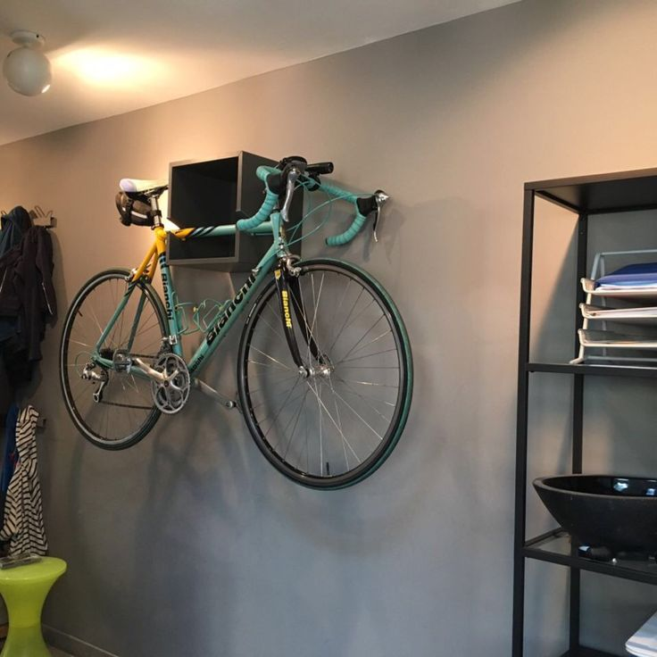 Check this out: The IKEA VALJE wall mounted bike rack is in town. https://re.dwnld.me/6kMVT-the-ikea-valje-wall-mounted-bike-rack-is-in-town