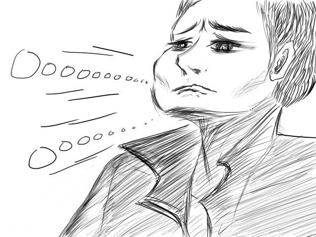 He feels sad.    www.TPRBT.com