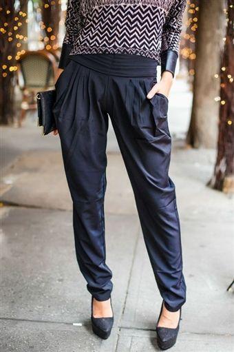 Black Tie Harem Trouser -- 15% off with code: SHOPgrlUTAH @Sherry Davis