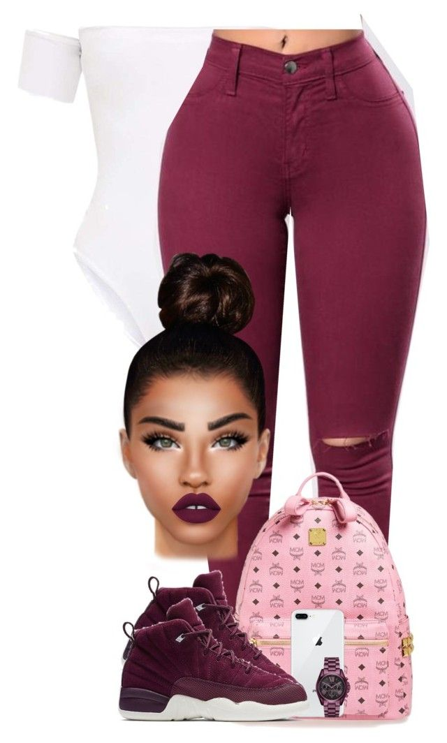 """""""Velvety"""" by chiamaka-ikaraoha ❤ liked on Polyvore featuring MCM, Michael Kors, NIKE and Lime Crime"""