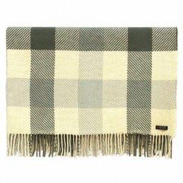 Foxford Merino Wool Dublin Irish Check Blanket