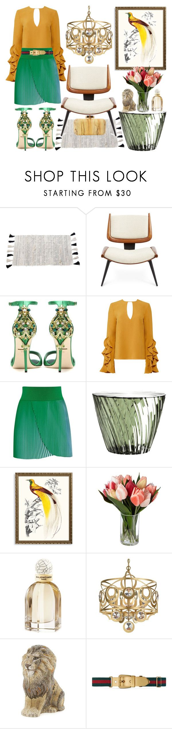 """Bird of Paradise"" by heybigtrender on Polyvore featuring Pom Pom at Home, Dolce&Gabbana, C/MEO COLLECTIVE, STELLA McCARTNEY, Kartell, Frontgate, Balenciaga, Schonbek, Judith Leiber and Gucci"