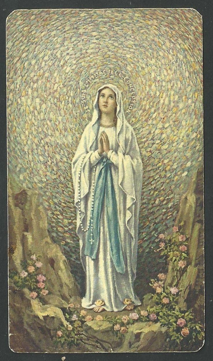 Estampa antigua Virgen de Lourdes andachtsbild santino holy card santini FOR SALE • EUR 4,00 • See Photos! Money Back Guarantee. Estampa antigua Virgen de Lourdes. 222066547868