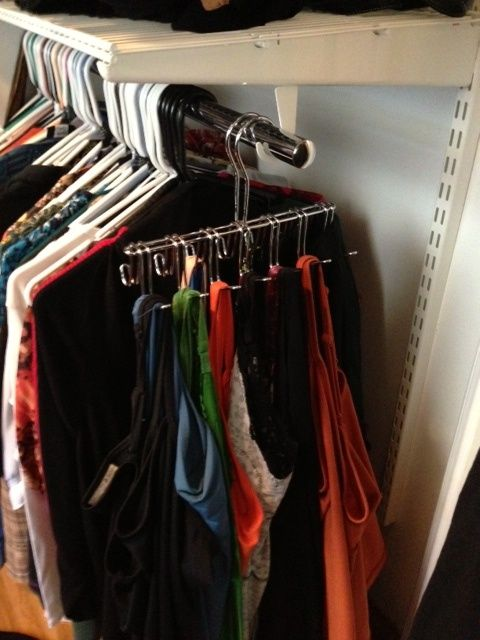 Organize Your Clothes 10 Creative And Effective Ways To Store And Hang Your Clothes: Best 25+ Hanging Tank Tops Ideas On Pinterest