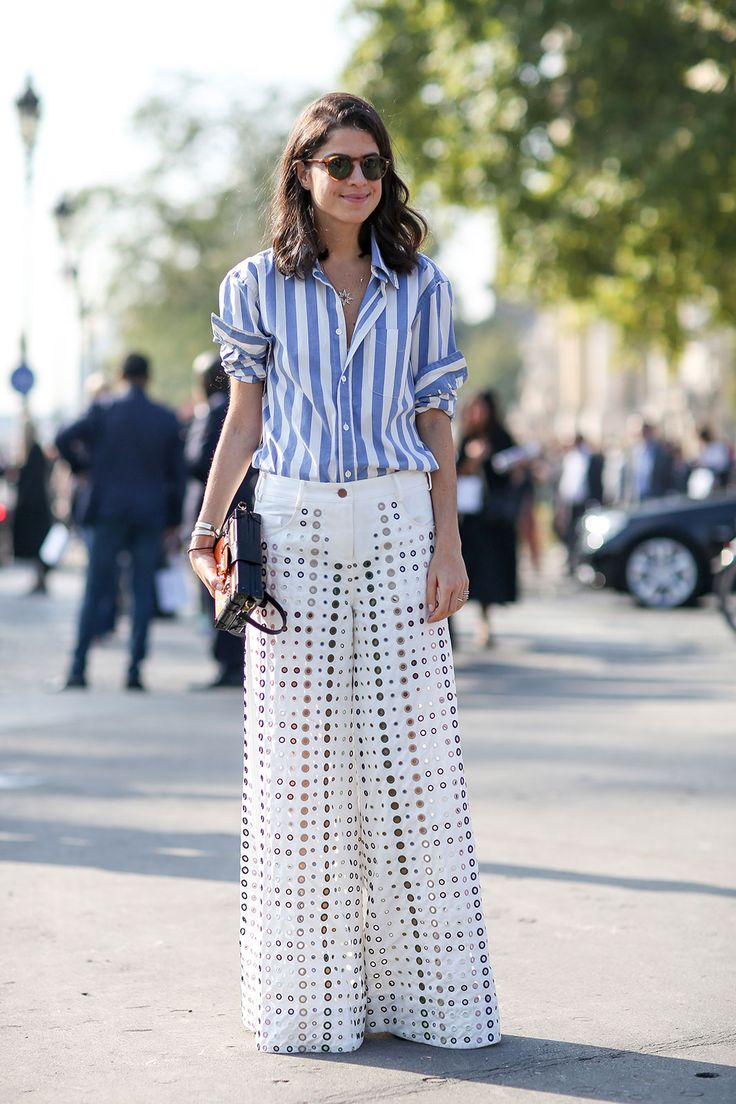 80 French Style Lessons To Learn Now #refinery29  http://www.refinery29.com/2014/10/75565/paris-street-style-photos-fashion-week-2014#slide65  Don't: Get too hot. Perforate your pants.