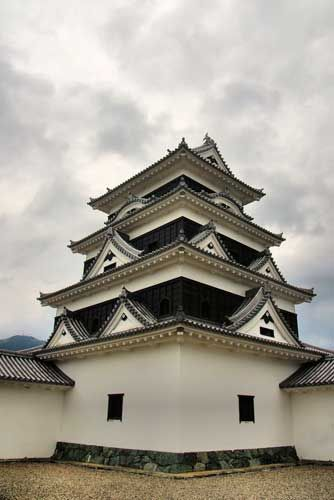 Ozu Castle, Ehime, Shikoku, Japan - a beautifully reconstructed castle in original materials