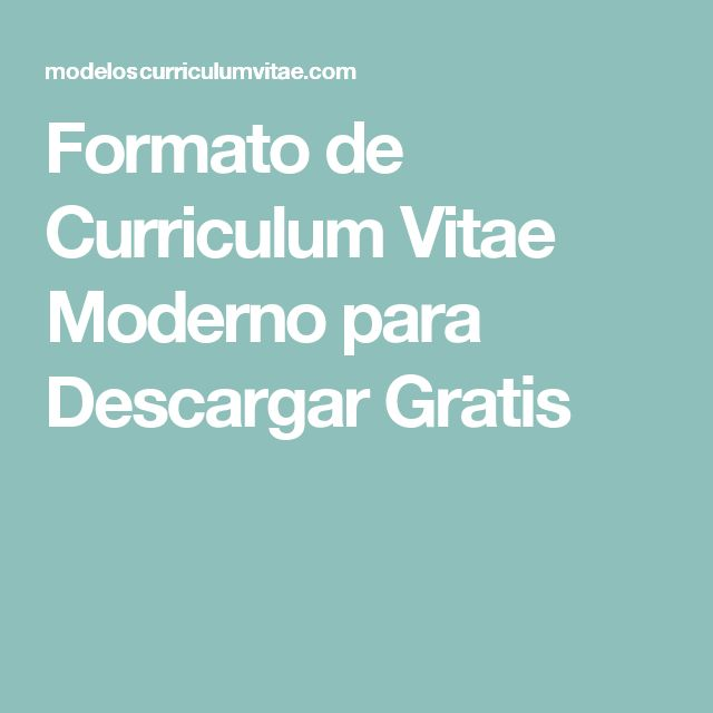 Las 25 mejores ideas sobre curriculum vitae para for Formatos y controles para restaurantes gratis