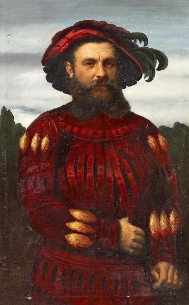 Otto Johann Heinrich Heyden Porträt des Pankgrafen Ritter Paul von Eckensteen Öl auf Leinwand. 110 x 71cm.