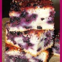 Ciasto z jagodami na jogurcie greckim