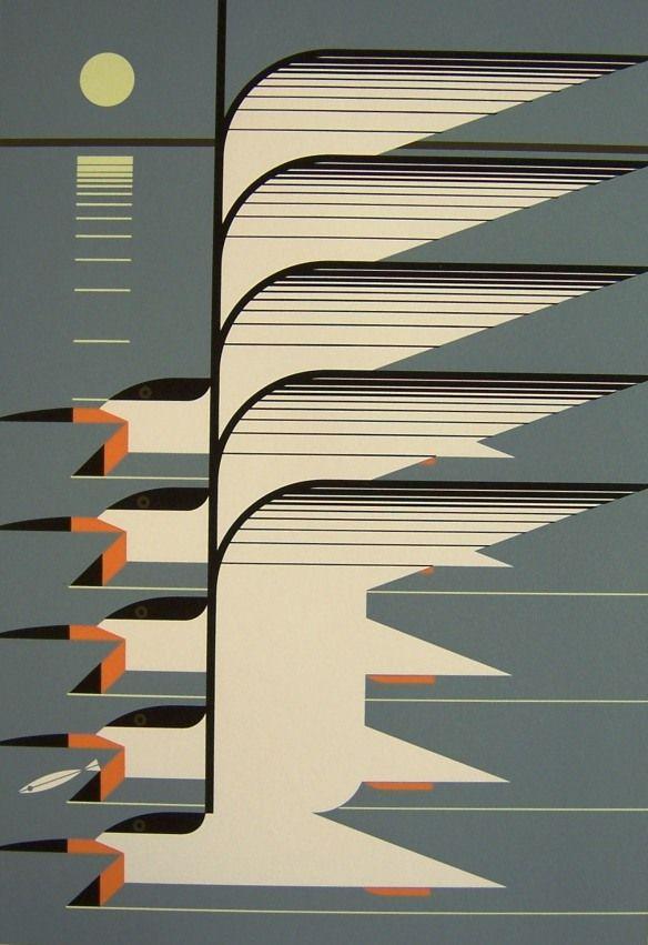 Skimmerscape by Charley Harper